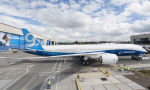 Boeing 787-9 Factory Rollout