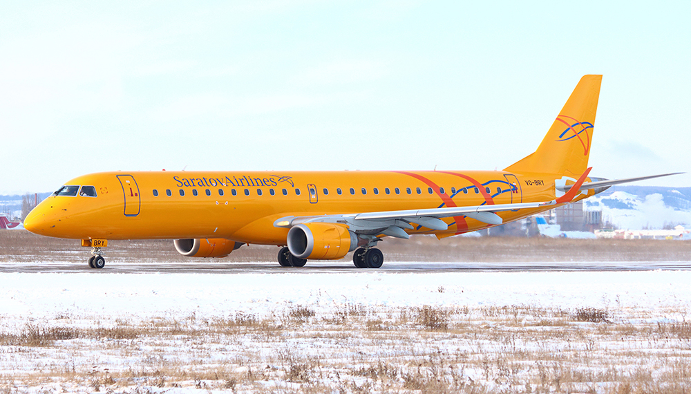 Saratov Airlines Embraer 195