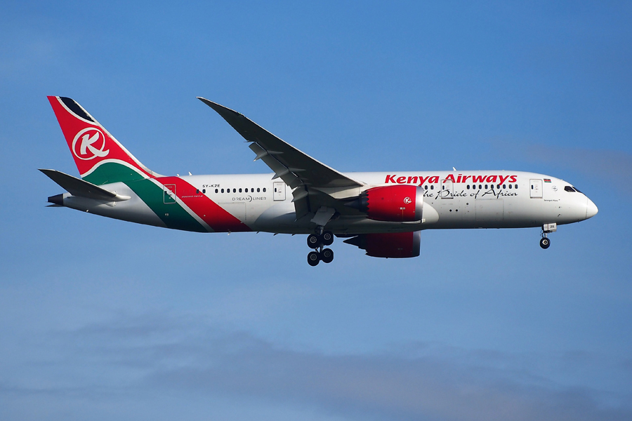 Kenya Airways Boeing 787 FAA