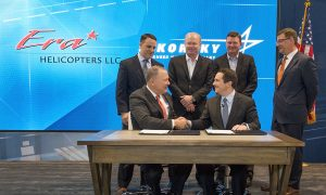 Sikorsky and Era Group commemorate the delivery of the 300th S 92 helicopter